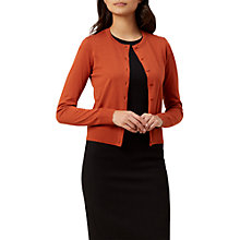 Buy Hobbs Marley Cardigan, Tiger Orange Online at johnlewis.com