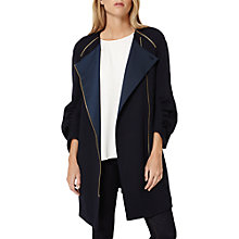 Buy Damsel in a dress Suki Cocoon Coat, Navy Online at johnlewis.com