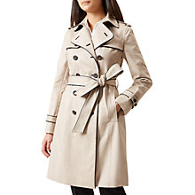Buy Hobbs Imogen Trench Coat, Clay/Black Online at johnlewis.com