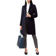Buy Hobbs Tilda Coat, Navy Blue Online at johnlewis.com
