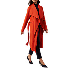 Buy Hobbs Odelia Coat, Hot Orange Online at johnlewis.com