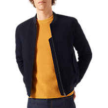 Buy Jigsaw Italian Wool Boucle Bomber Jacket, Navy Online at johnlewis.com