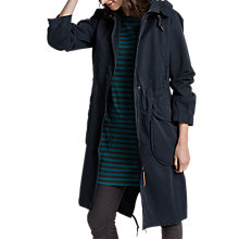 Buy Seasalt RAIN® Collection Jibe Slouchy Waterproof Parka, Fathom Online at johnlewis.com