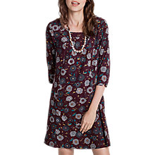 Buy Seasalt Wagtail Printed Dress, Chalk Floral Rosewood Online at johnlewis.com