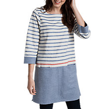 Buy Seasalt Tregooden Tunic Dress, Midday Tide Voyage Ecru Online at johnlewis.com