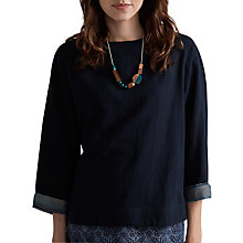 Buy Seasalt Organic Cotton Colourist Top, Kuggar Fathom Online at johnlewis.com