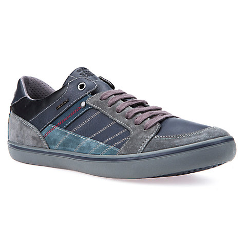Buy Geox Box Cupsole Anthracite Shoes, Anthracite/Navy Online at johnlewis.com