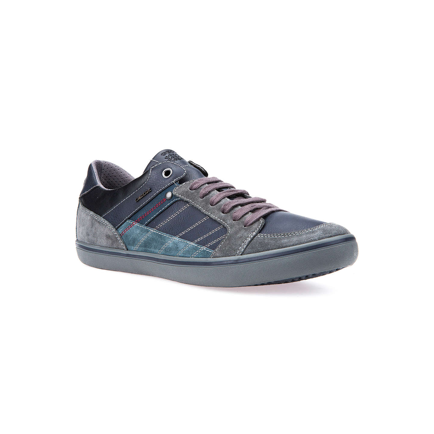 BuyGeox Box Cupsole Anthracite Shoes, Anthracite/Navy, 7 Online at johnlewis.com