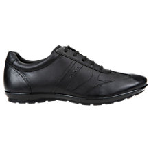 Buy Geox Symbol City Leather Trainers, Black Online at johnlewis.com