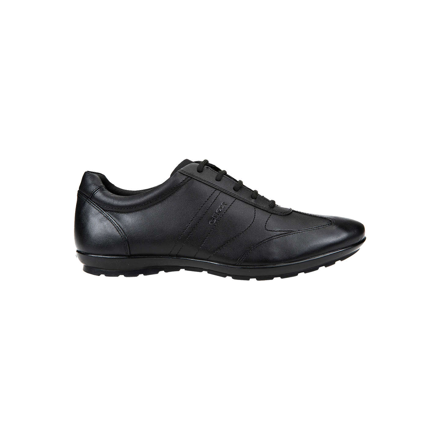 BuyGeox Symbol City Leather Trainers, Black, 7 Online at johnlewis.com ...