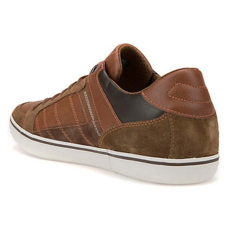 Buy Geox Box Cupsole Trainers, Brown Online at johnlewis.com
