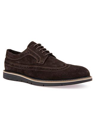 Fértil empeorar escucha  Geox Uvet Derby Shoes, Brown at John Lewis & Partners
