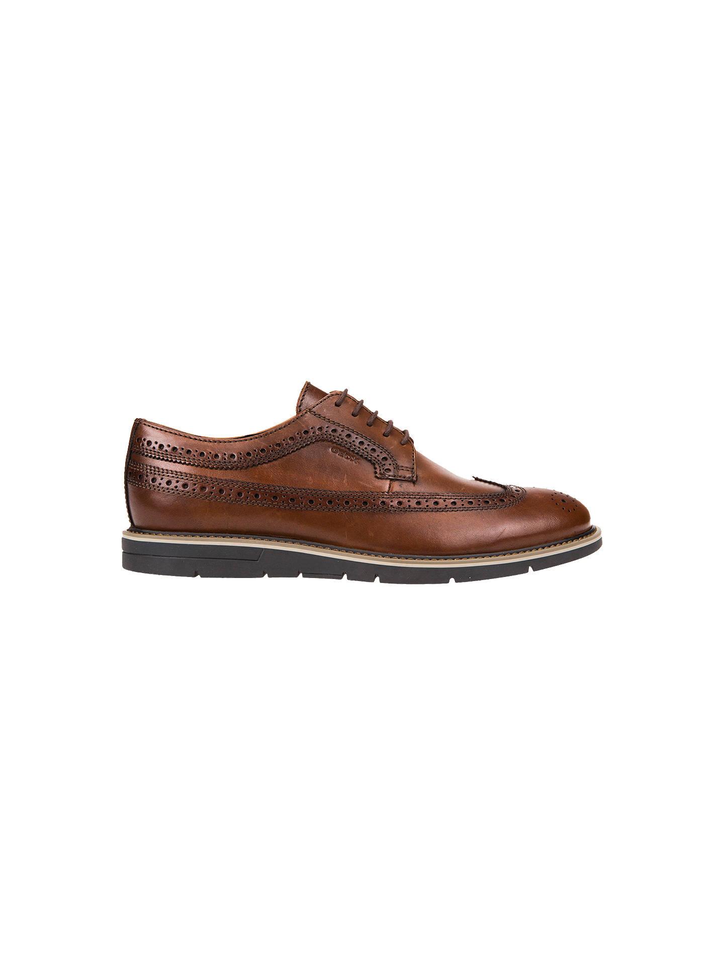 Anticuado Intacto Impresión  Geox Uvet Derby Shoes, Cognac at John Lewis & Partners