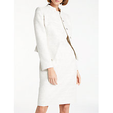 Buy Bruce by Bruce Oldfield Sparkle Fitted Jacket, Ivory/Silver Online at johnlewis.com
