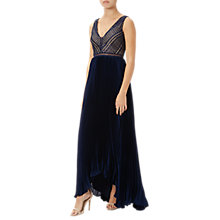 Buy Adrianna Papell Eyelet Combination Gown, Midnight Online at johnlewis.com