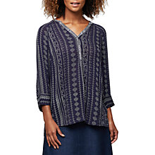 Buy East Aztec Print Blouse, Ink Online at johnlewis.com