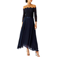 Buy Coast Marr Lace Bridesmaid Top, Navy Online at johnlewis.com