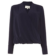 Buy Damsel in a dress Tabi Blouse, Navy Online at johnlewis.com