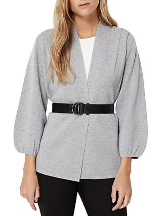 Damsel in a Dress Belted Cardigan, Silver Marl