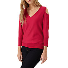 Buy Damsel in a dress Tie Back Knit Jumper, Bright Pink Online at johnlewis.com