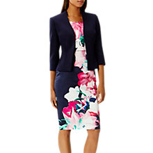 Buy Coast Deandra Short Peplum Jacket, Navy Online at johnlewis.com