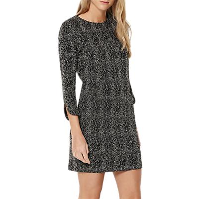 Damsel in a Dress Mist Textured Jersey Dress, Ivory/Black