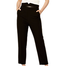 Buy Karen Millen The Essentials High Waisted Tailored Trousers, Black Online at johnlewis.com