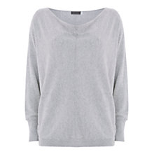 Buy Mint Velvet Cowl Neck Batwing Jumper, Light Grey Online at johnlewis.com