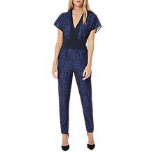 Buy Damsel in a dress Plumage Print Jumpsuit, Navy Online at johnlewis.com