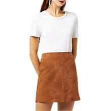 Buy Warehouse Suede Seam Detail Pelmet Skirt Online at johnlewis.com