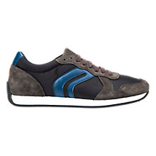 Buy Geox Vinto Trainers, Mud/Blue Online at johnlewis.com