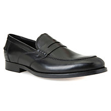 Buy Geox Hampstead Leather Loafers, Black Online at johnlewis.com
