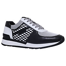 Buy MICHAEL Michael Kors Allie Mesh Trainers, Black/White Online at johnlewis.com