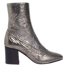 Buy Jigsaw Hansen Block Heeled Ankle Boots, Pewter Online at johnlewis.com