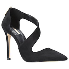 Buy Carvela Achilles Asymmetric Stiletto Court Shoes, Black Online at johnlewis.com