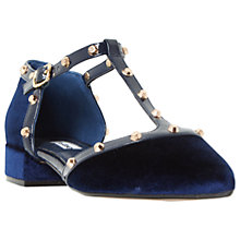 Buy Dune Clio T-Bar Low Block Heeled Court Shoes Online at johnlewis.com