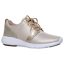 Buy MICHAEL Michael Kors Amanda Fabric Trainers, Gold Comb Online at johnlewis.com