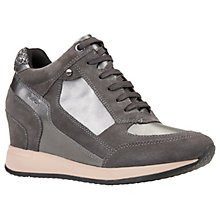 Buy Geox Nydame Wedge Heeled Lace Up Trainers Online at johnlewis.com