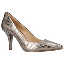 Buy MICHAEL Michael Kors Flex High Heeled Stiletto Court Shoes, Silver Online at johnlewis.com