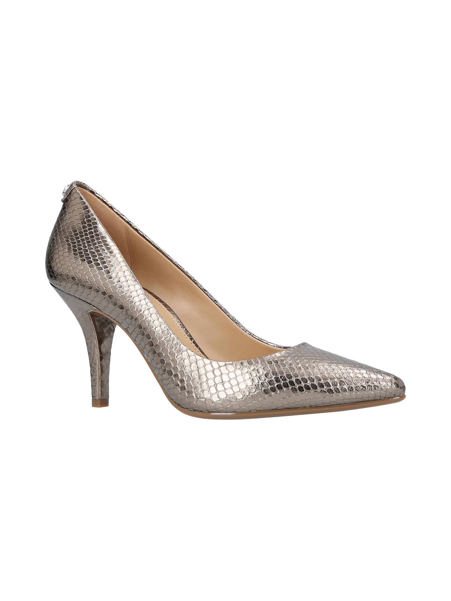 c5d6620b87f MICHAEL Michael Kors Flex High Heeled Stiletto Court Shoes, Silver ...