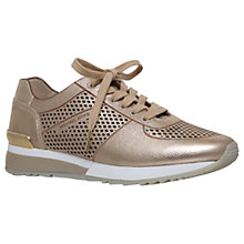 Buy MICHAEL Michael Kors Tilda Lace Up Trainers, Gold Online at johnlewis.com