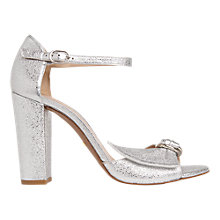 Buy Whistles Thurza Block Heeled Sandals, Silver Online at johnlewis.com