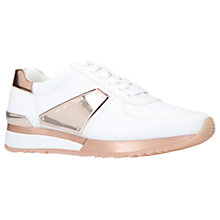 Buy MICHAEL Michael Kors Allie Wrap Flat Trainers, Pink/White Online at johnlewis.com