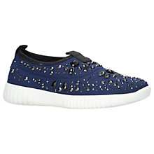 Buy Carvela Luke Studded Slip On Trainers, Navy Online at johnlewis.com