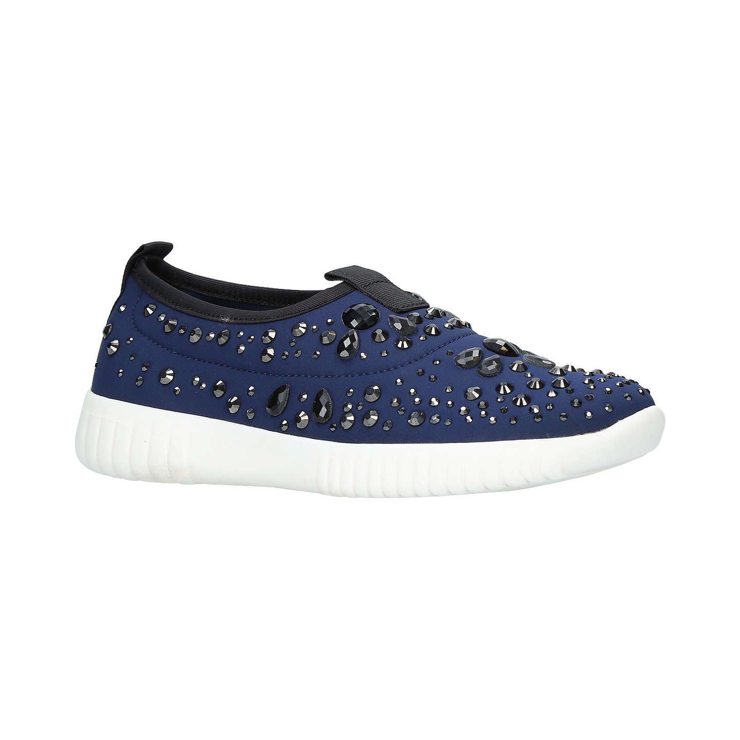 BuyCarvela Luke Studded Slip On Trainers, Navy, 3 Online at johnlewis.com