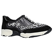 Buy Carvela Lighter Embellished Slip On Trainers, Gunmetal Online at johnlewis.com