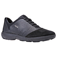Buy Geox Nebula Breathable Slip On Trainers, Black Online at johnlewis.com