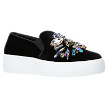 Buy Carvela Lorraine Embellished Slip On Trainers, Black Online at johnlewis.com