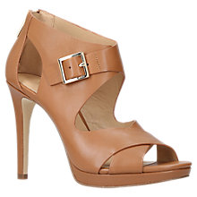 Buy MICHAEL Michael Kors Kimber Leather Court Shoe, Tan Online at johnlewis.com