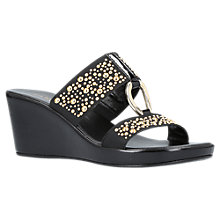 Buy Carvela Comfort Salt Wedge Heeled Sandals, Black Online at johnlewis.com
